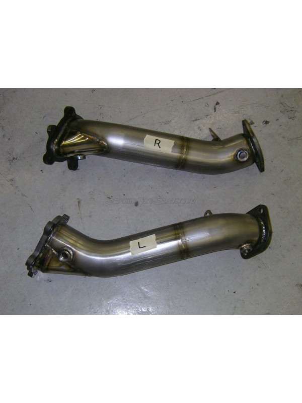 5ZIGEN DOWNPIPES, 80MM STAINLESS STEEL