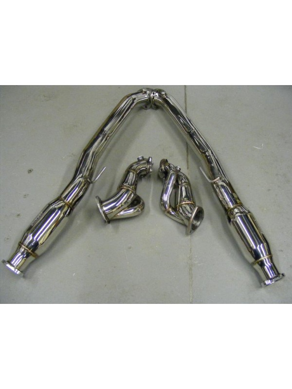 """ALLOY TOYZ 3"""" DOWN-PIPE AND 3""""-2.5"""" TEST-PIPE COMBO"""