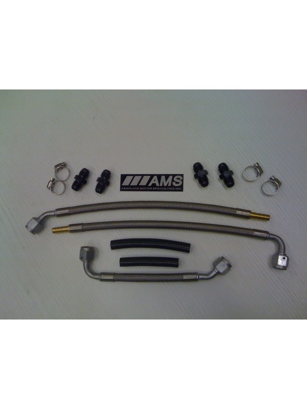 AMS SS FUEL LINE KIT (FOR Z32 INNOVATIONS OR 300 DEGREE FUEL RAILS)