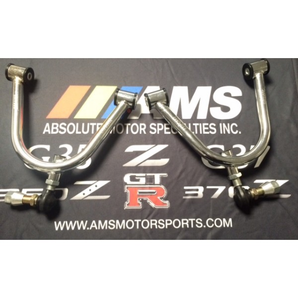AMS 350Z/G35 Chrome V2 Adjustable Front Upper Control Arms