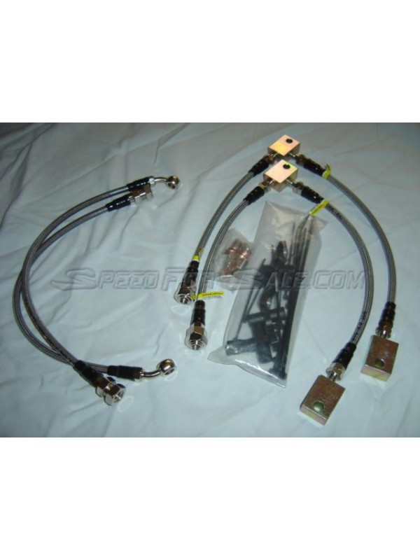 T1R STAINLESS STEEL BRAIDED BRAKE LINE SET