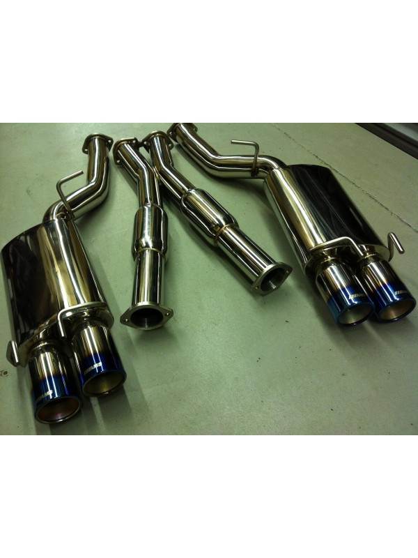 "AMS 2.5"" 300ZX (Z32) 2+2 S.S. CAT-BACK EXHAUST"