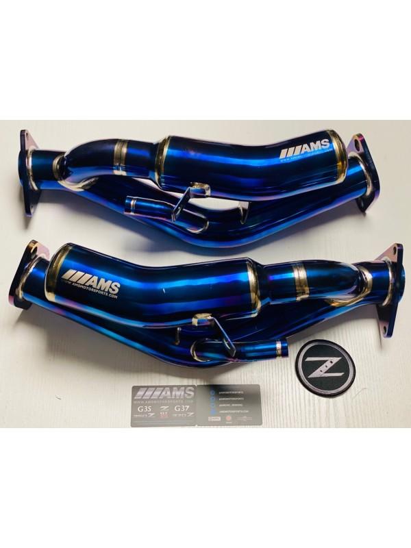 AMS SEKUSHI DOWNPIPES 370Z, VQ35HR VQ37VHR - Nissan 350Z 370Z / Infiniti G35 G37 Q50 Q60 RWD